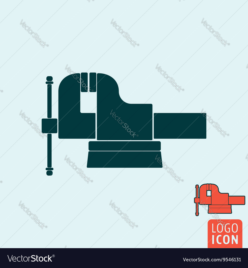 Vice icon isolated vector