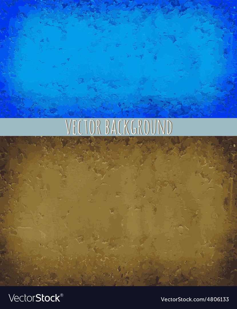 Two backgrounds blue and brown vector