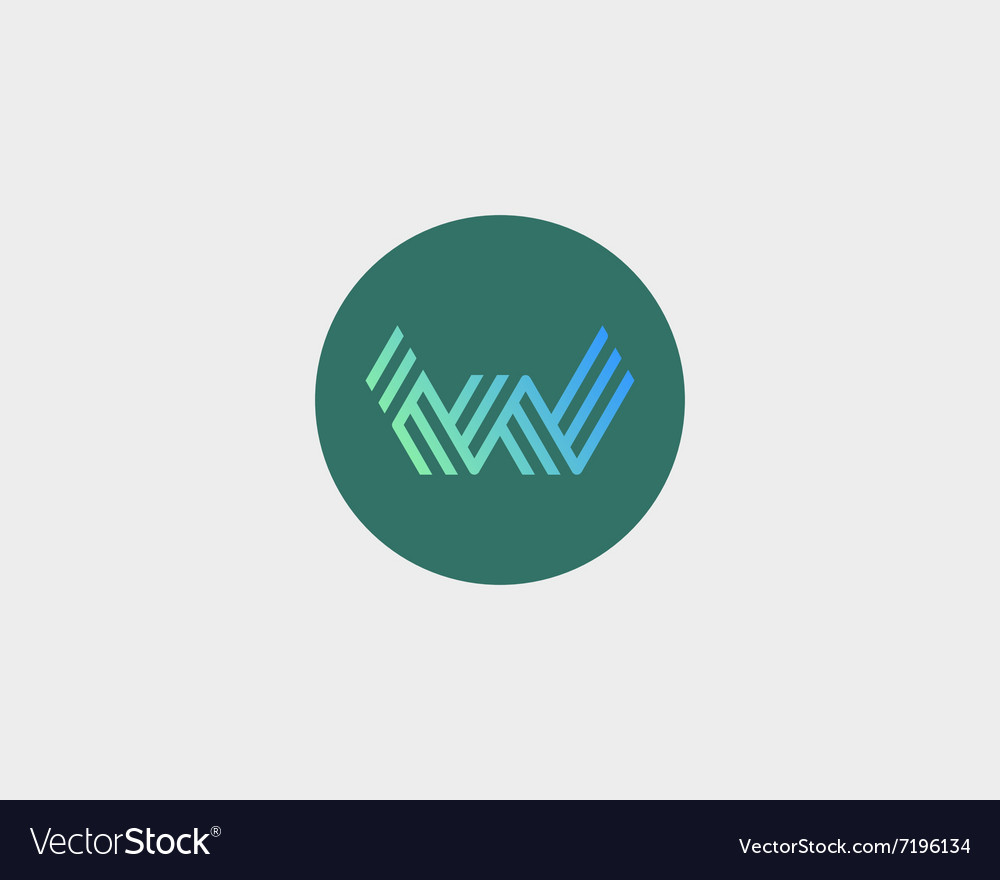 Letter w logo icon design creative line vector