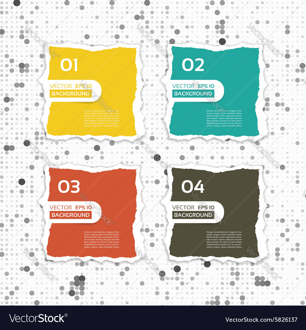 Modern torn paper for infographics infographics vector