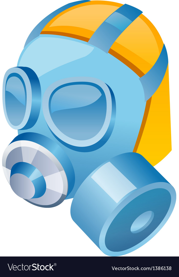 Icon gas mask vector