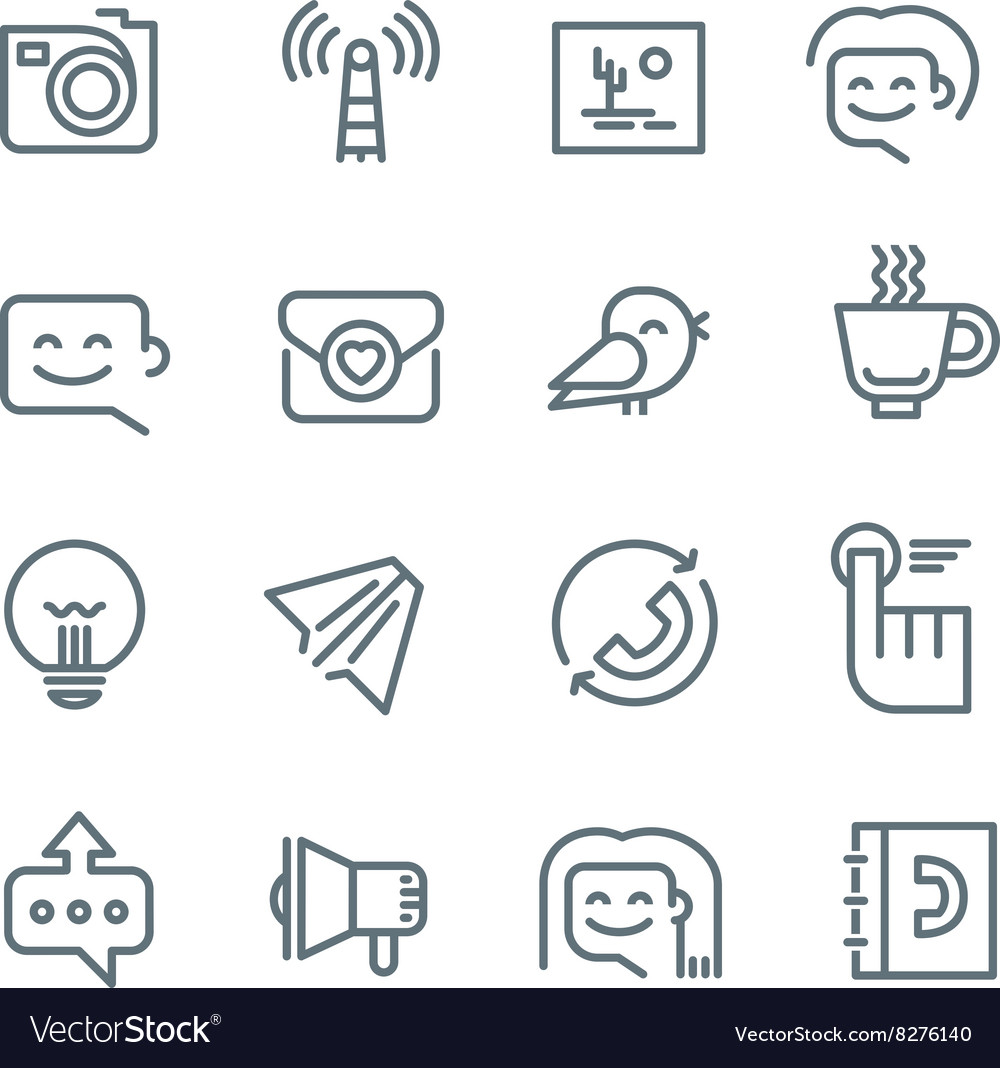 Communication and networking icons vector