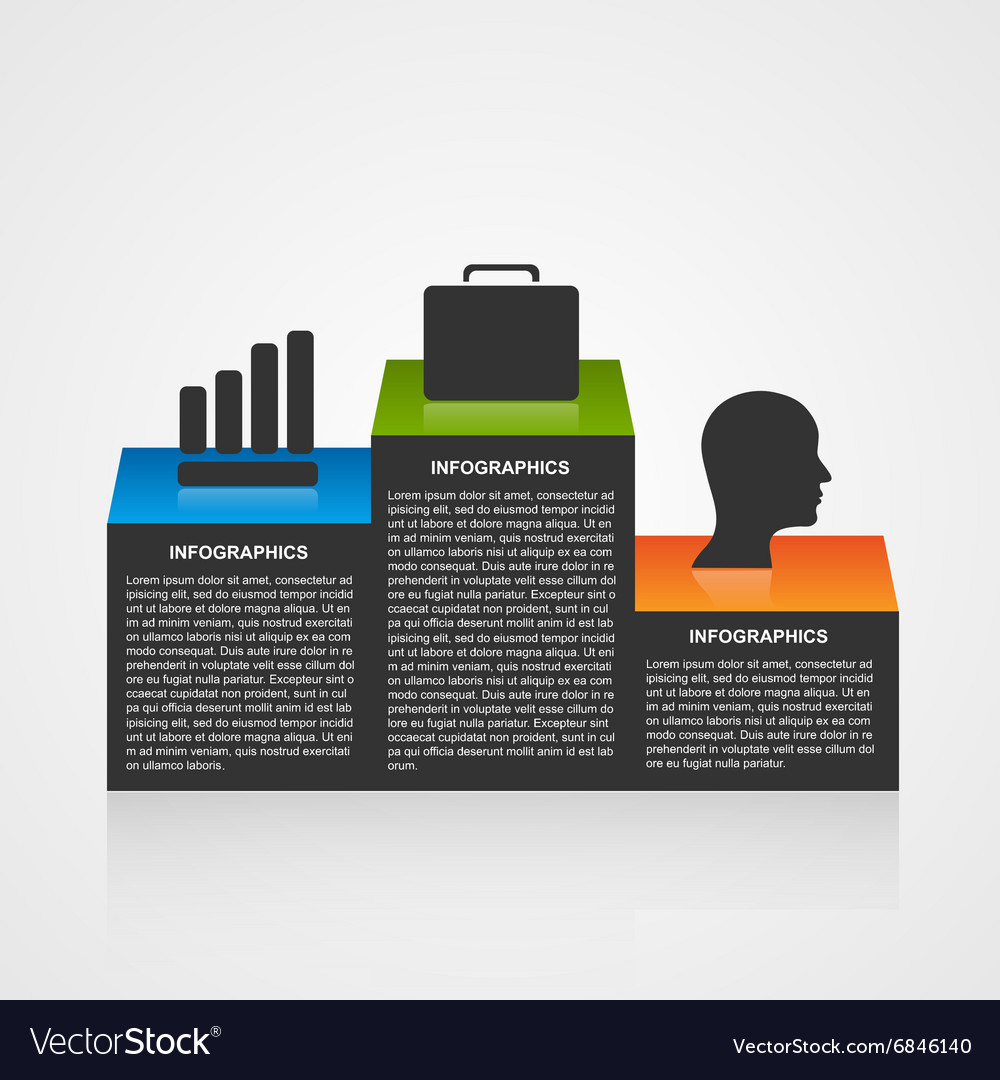 Infographic template with olympic podium vector