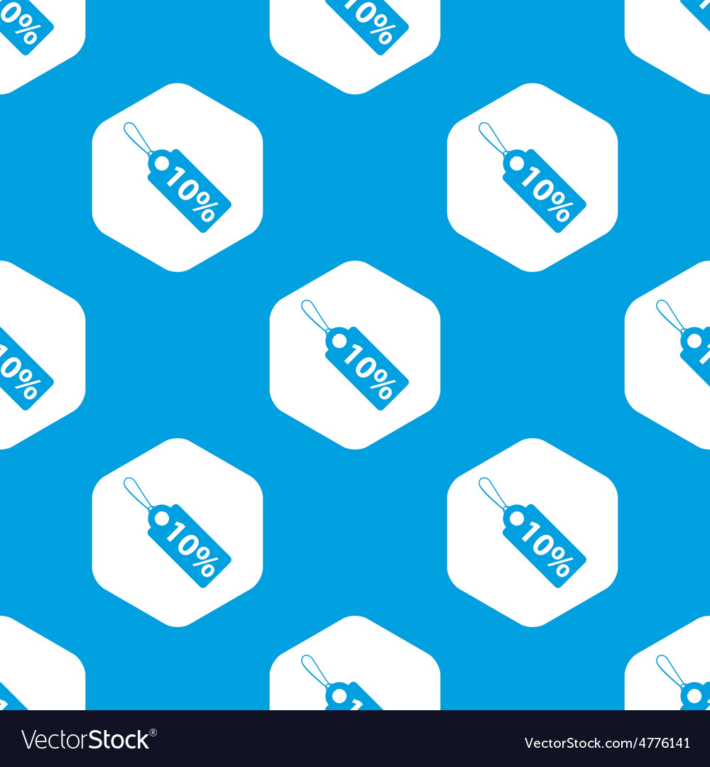 Discount hexagon pattern vector