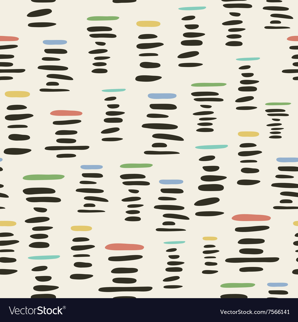 Retro style seamless pattern with stylized piles vector