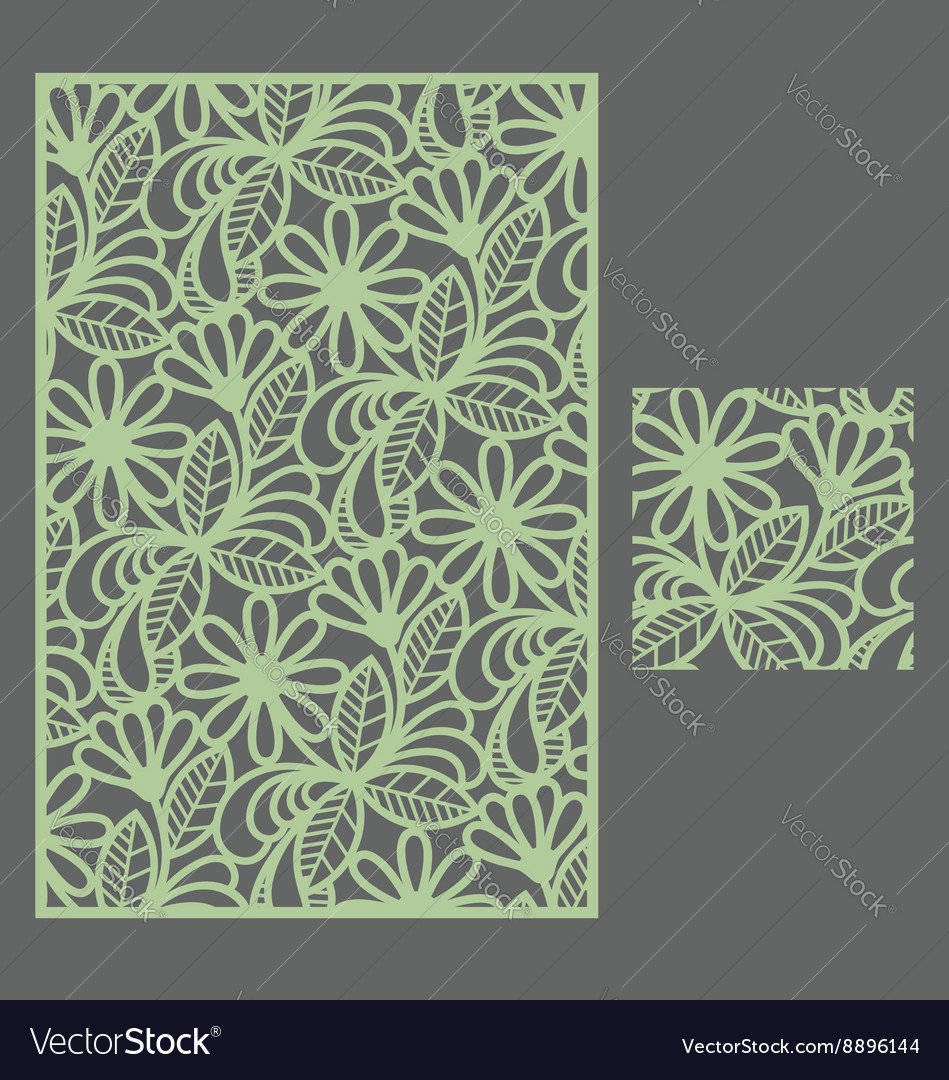 Template pattern for decorative panel1 vector