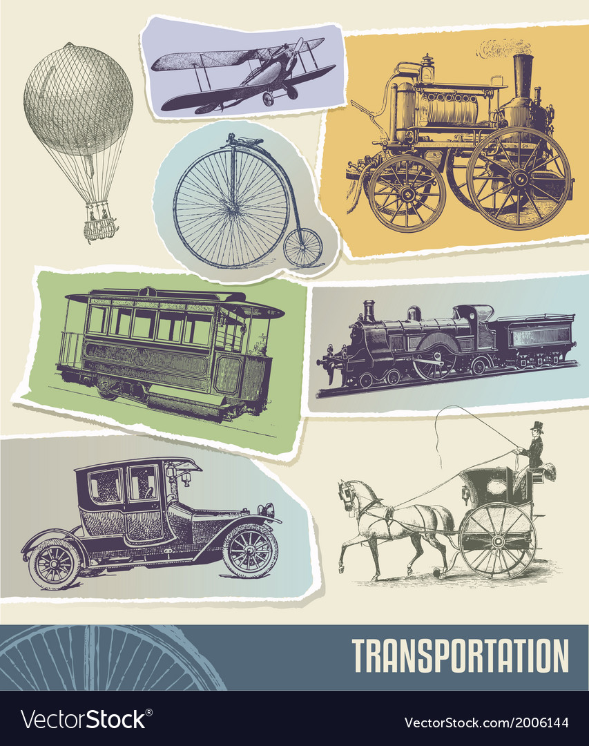 Vintage transport vector