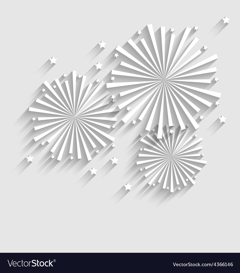 Firework for holiday celebration events flat style vector