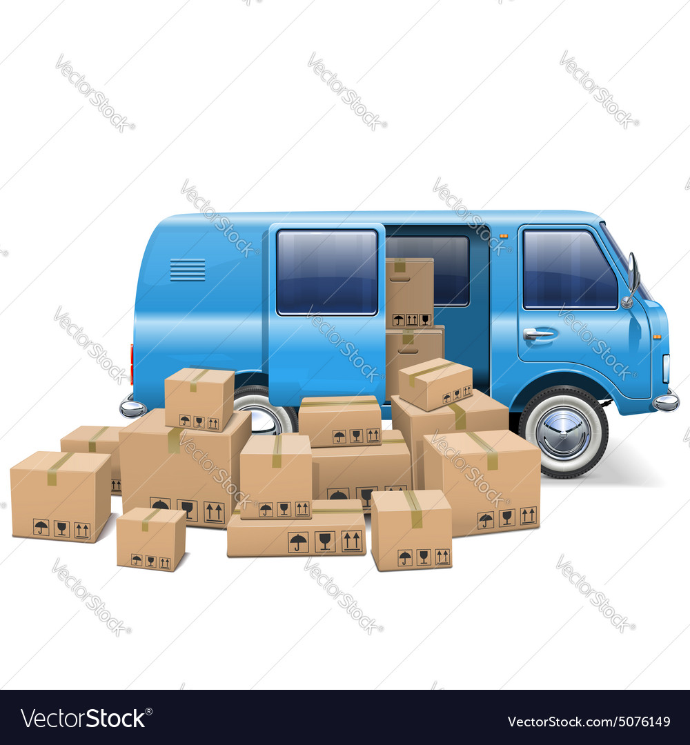 Delivery minivan vector