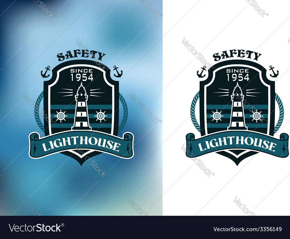 Lighthouse nautical banner vector