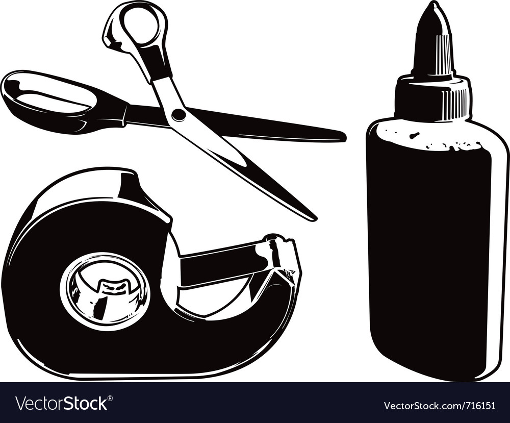 Arts and crafts supplies vector