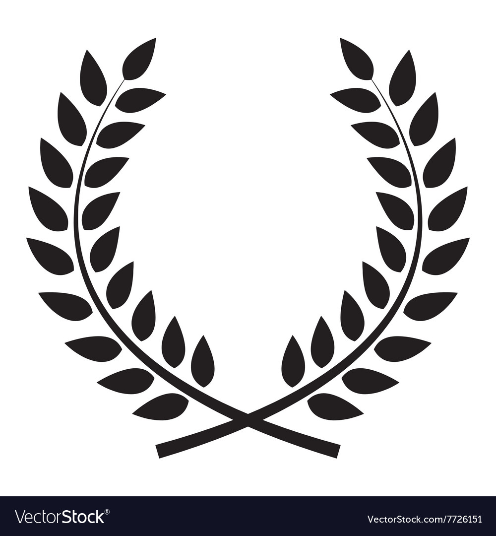 Award laurel wreath winner leaf label symbol of vector