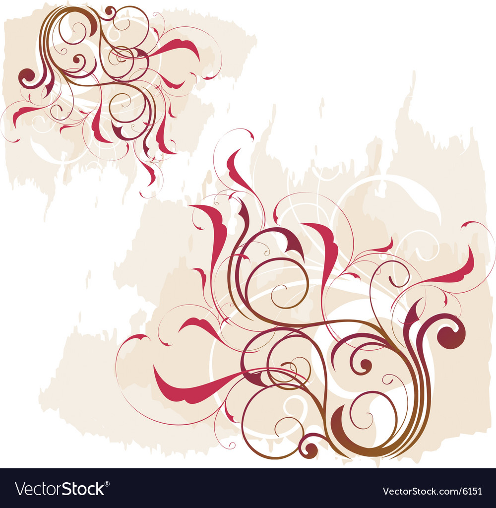 Floral vine graphic vector