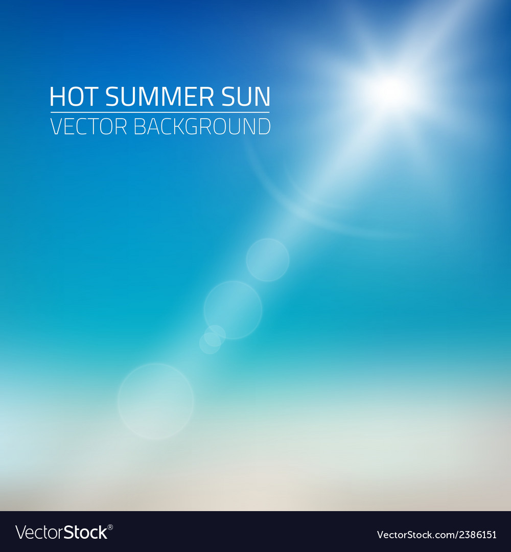 Hot summer sun background vector