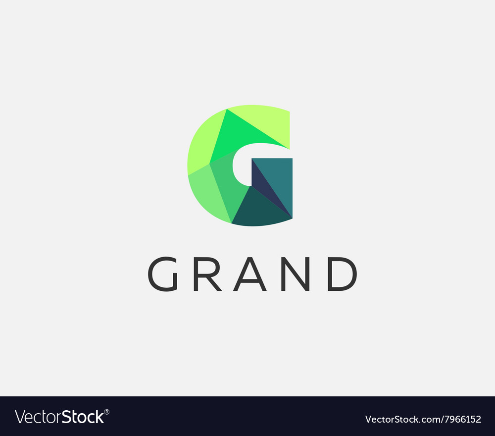 Abstract trend polygon letter g logo design vector