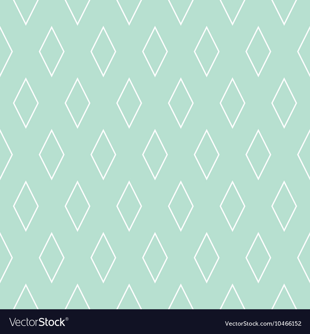 Tile pattern or mint green and white wallpaper vector