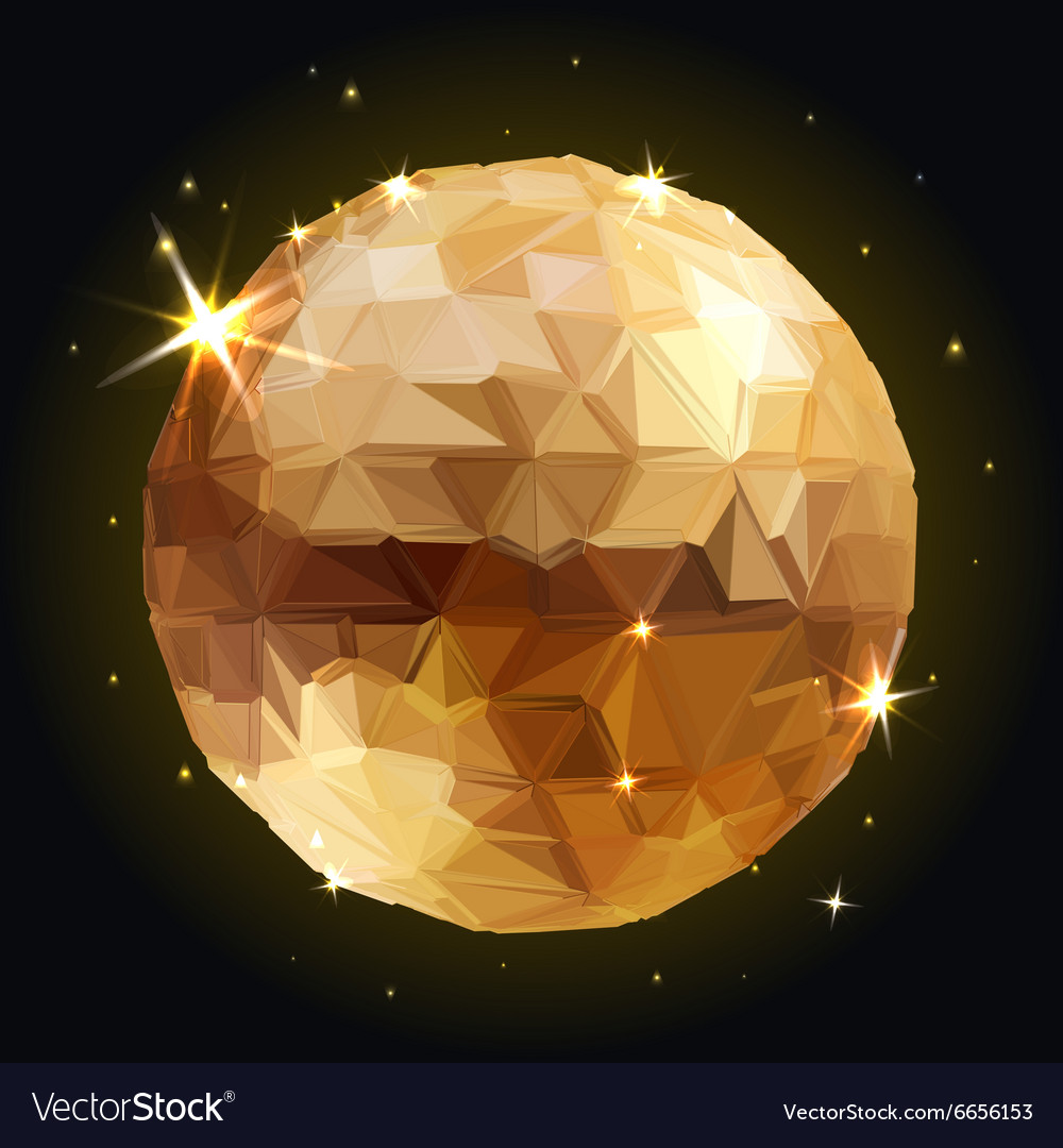 Geometric disco ball isolated holidays background vector