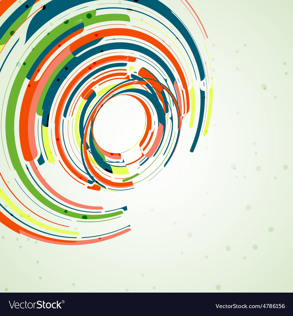 Futuristic abstract shape vector