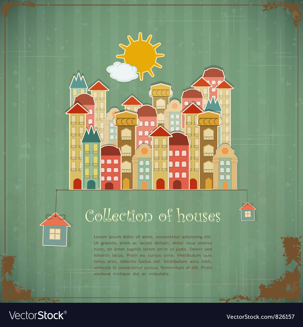 Collection of houses vector