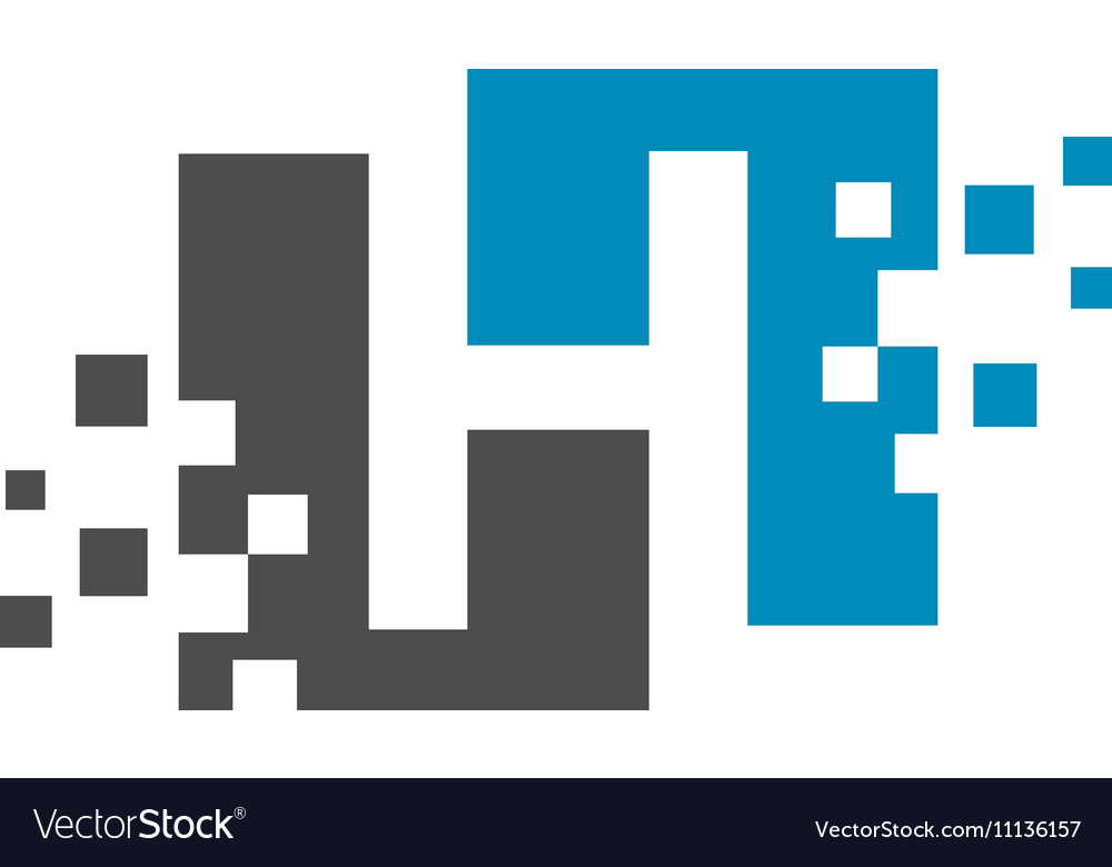 Pixelated logo template vector