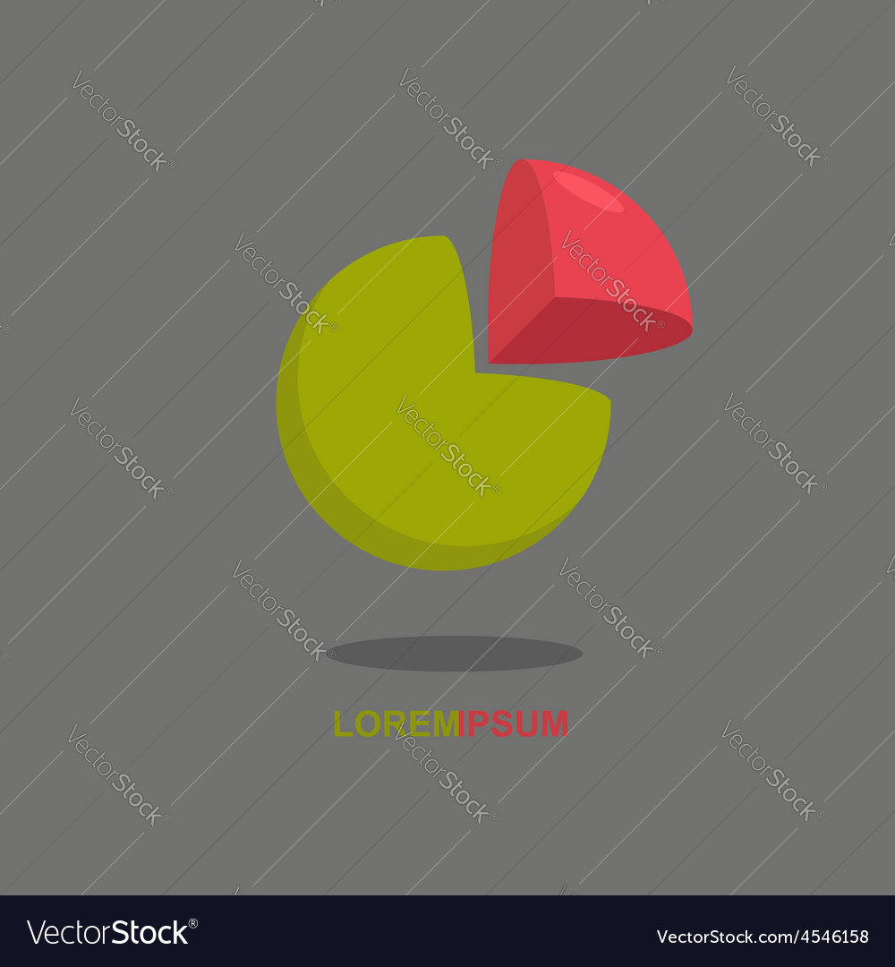 Logo sphere cut segment ball logotype vector