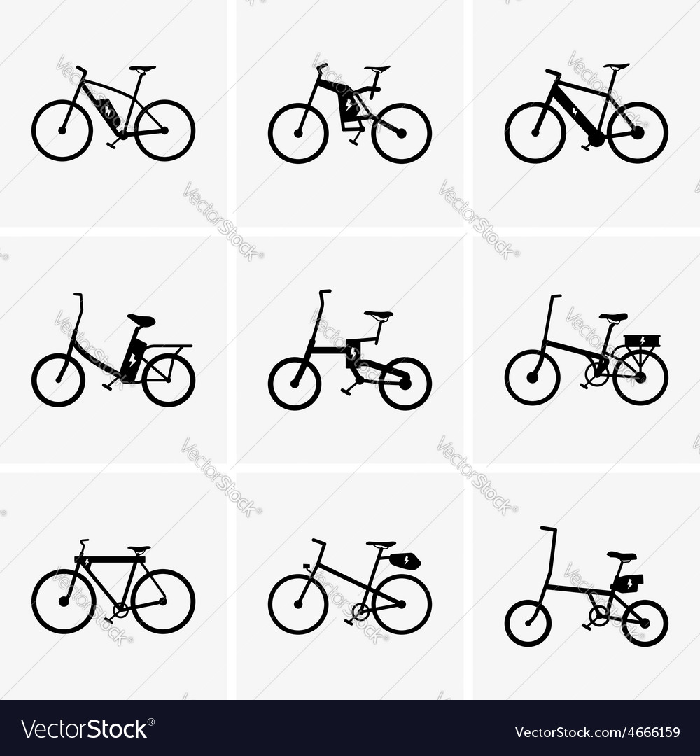 Electric bicycles vector