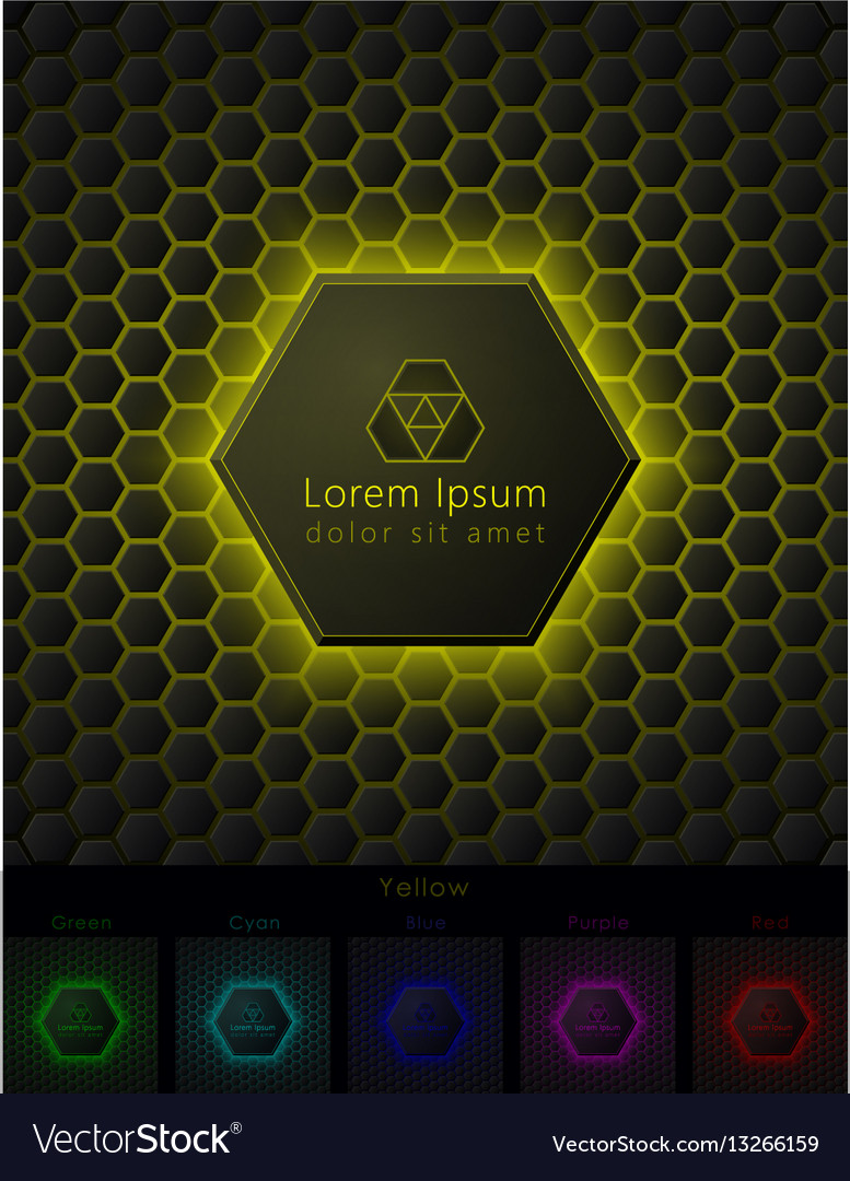 Hexagonal background with pace for your logo vector