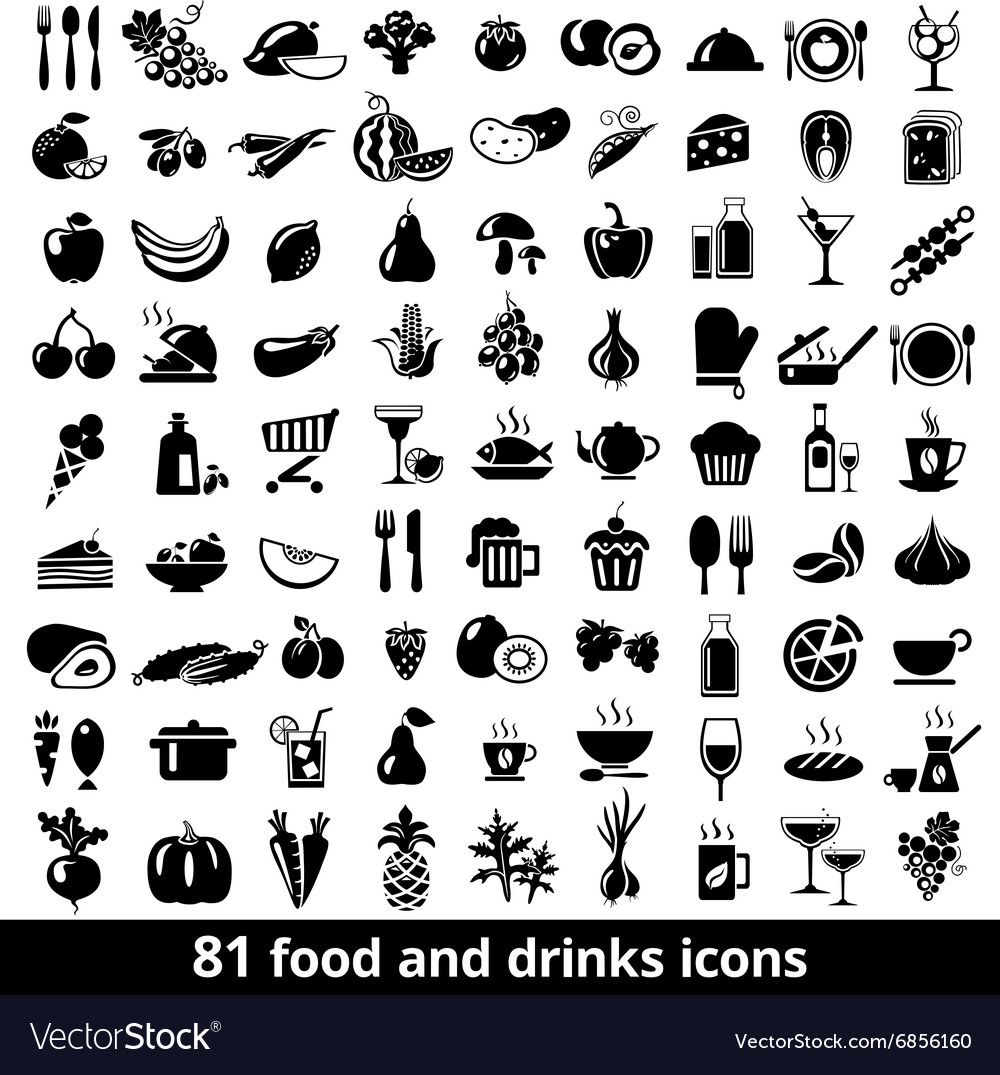 Fooddrinksicons vector