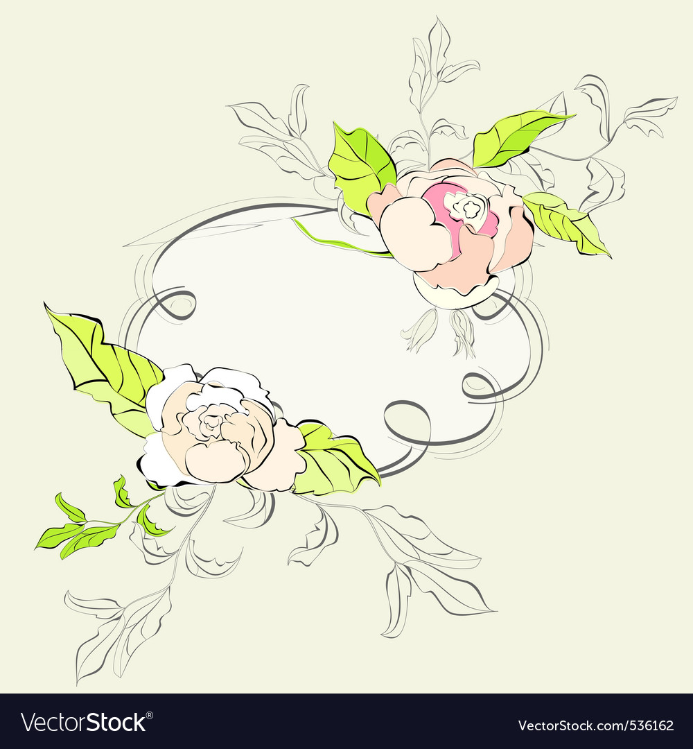 Stylish frame with floral ornament vector