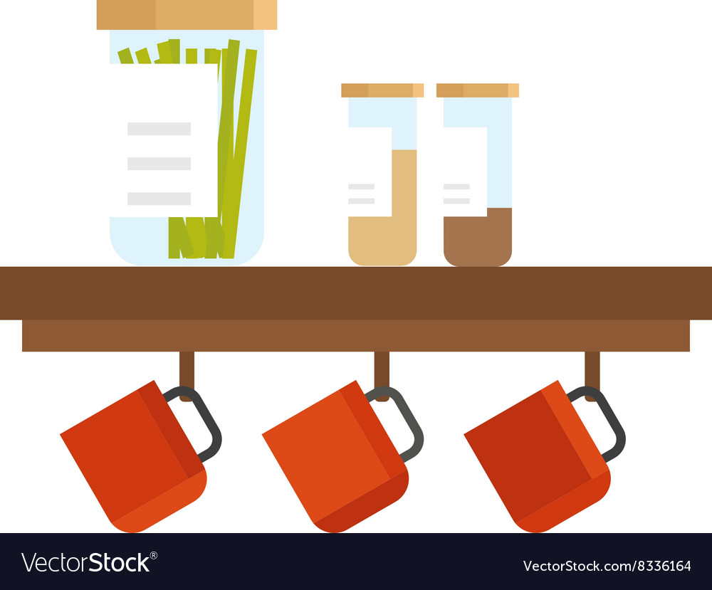 Kitchen cook tools set flat vector