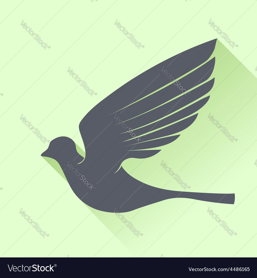 Grey bird vector