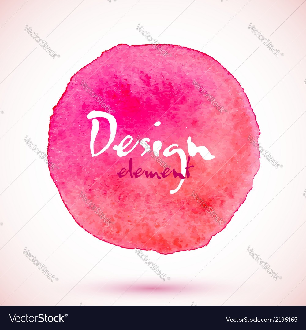 Pink watercolor circle design element vector