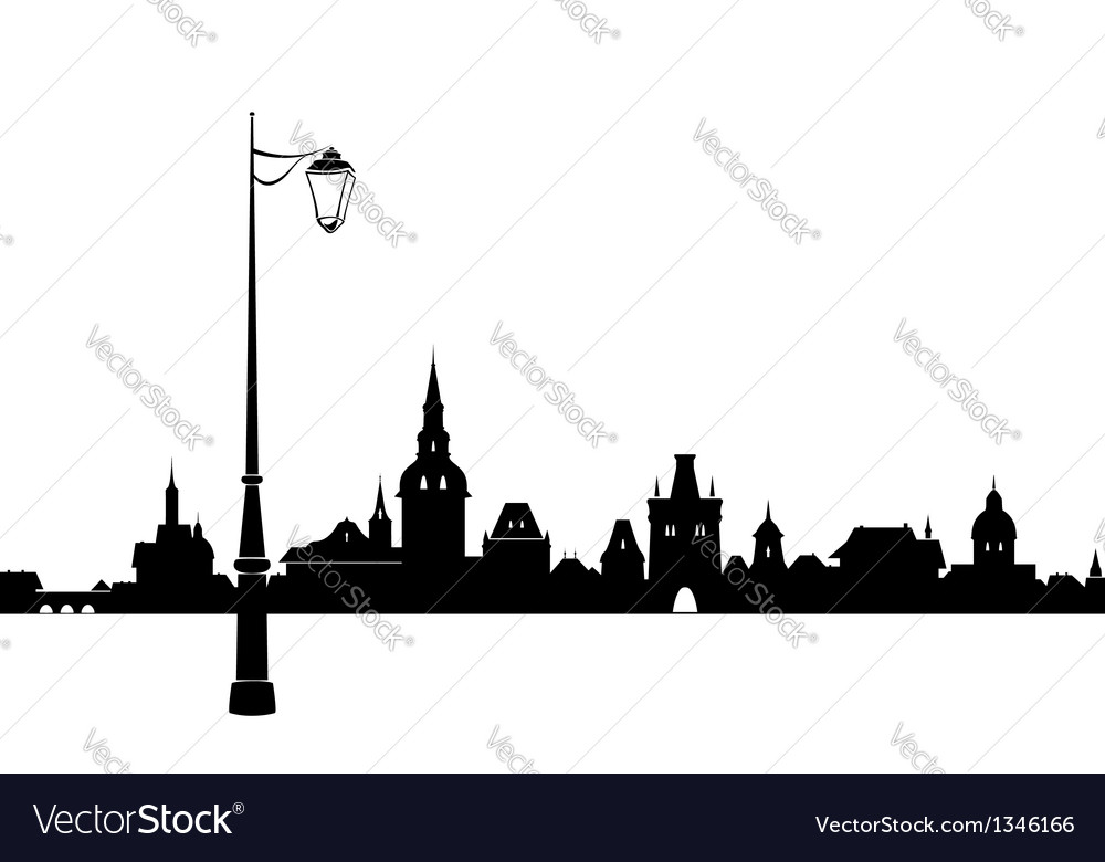 Abstract old town vector