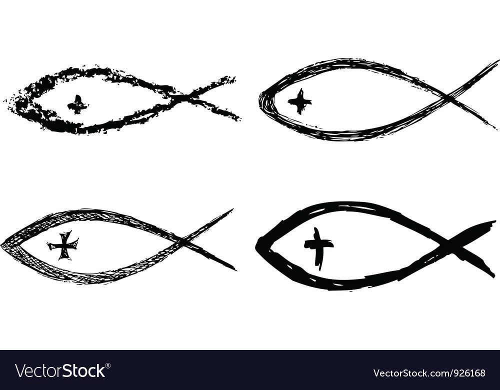 Christian fish icon vector