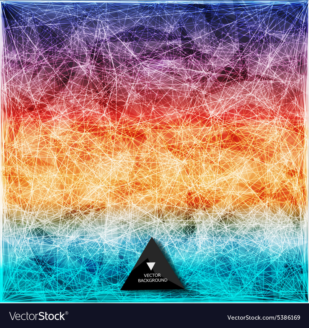 Abstract rainbow web bacground triangles vector