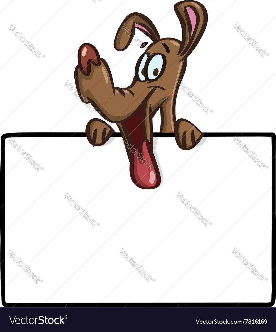 Dog with sign vector