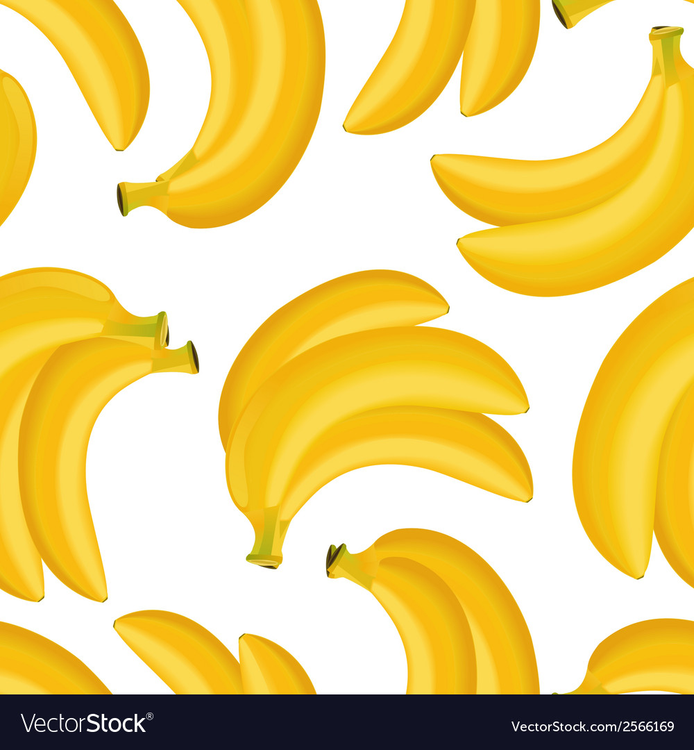 Seamless texture of banana vector