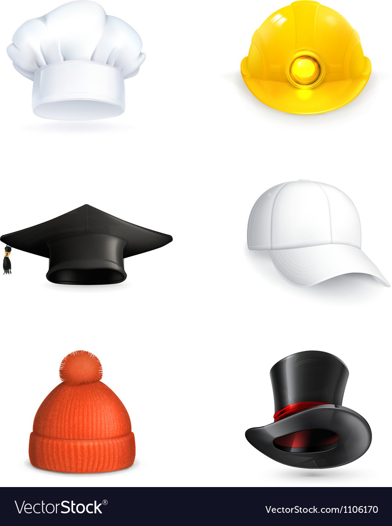Hats set vector