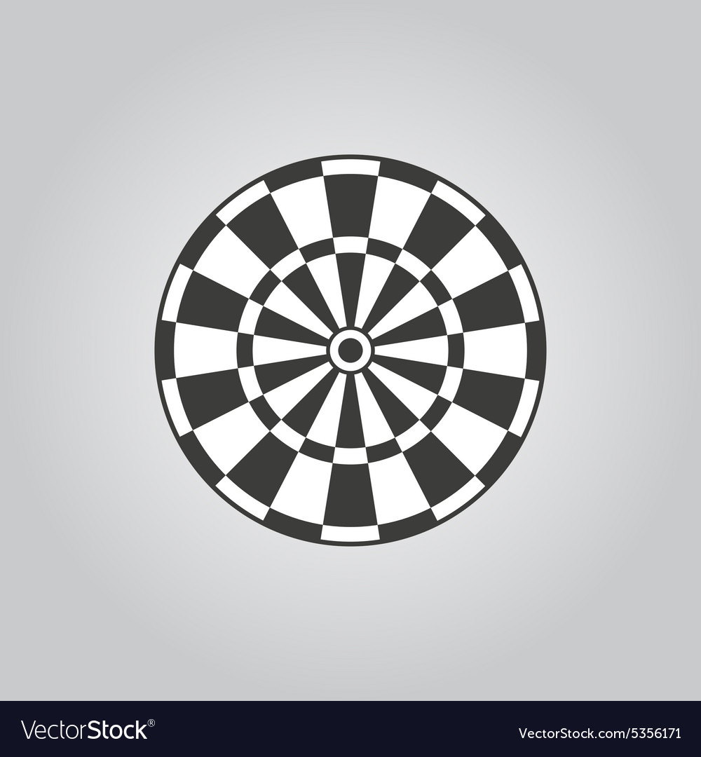 Darts icon target and game symbol flat vector