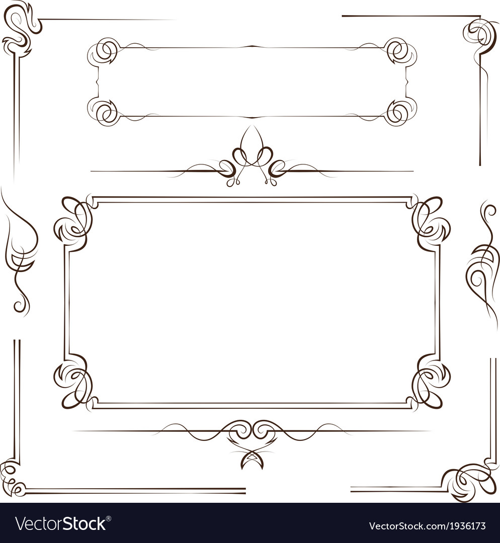 Vintage multilayer set frame vector