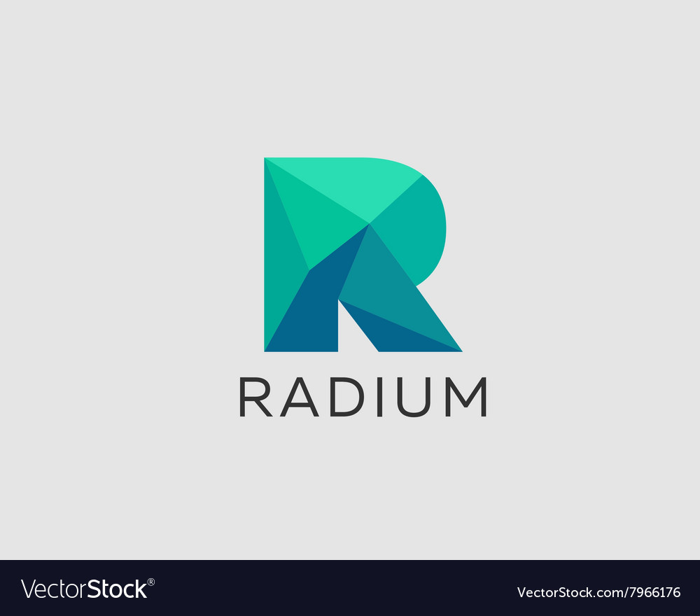 Abstract trend polygon letter r logo design vector