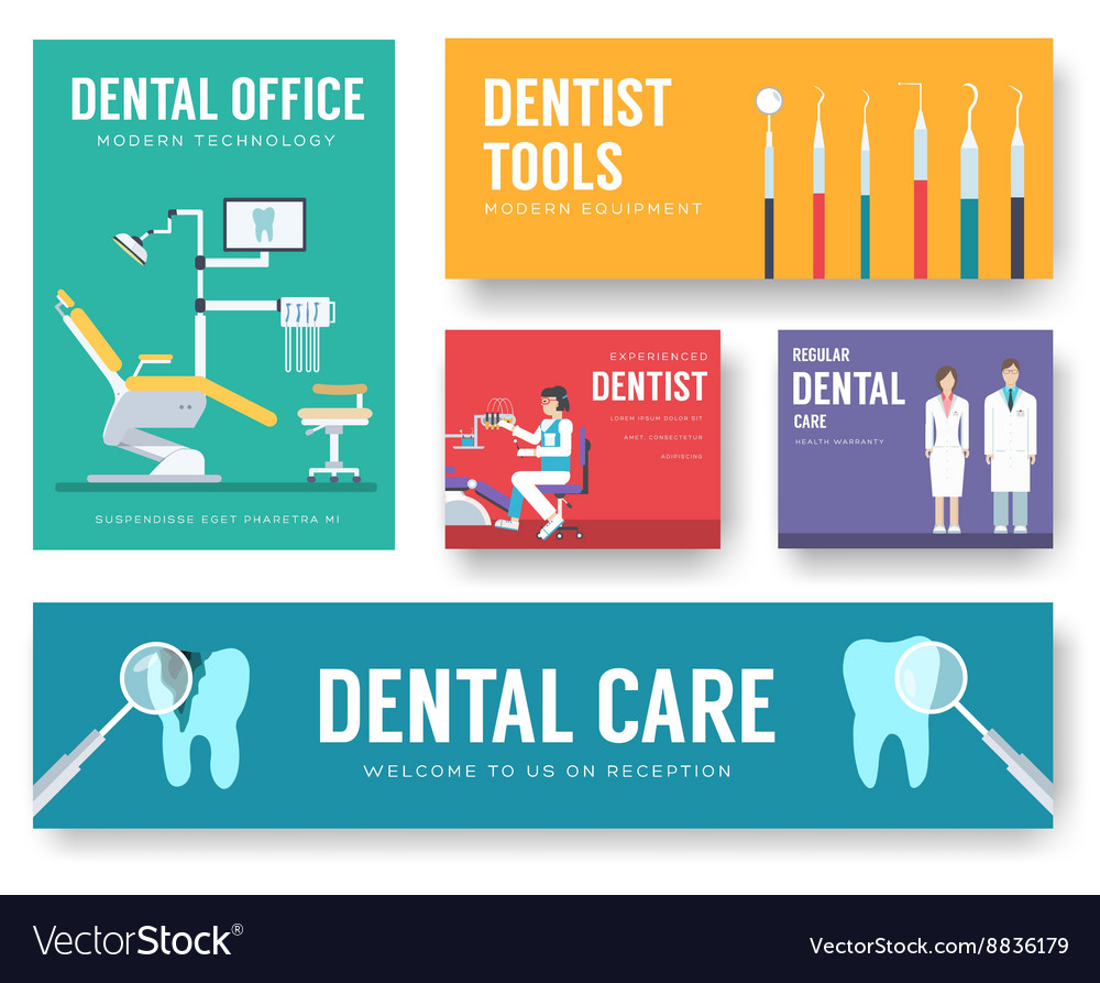 Dental office interior background vector