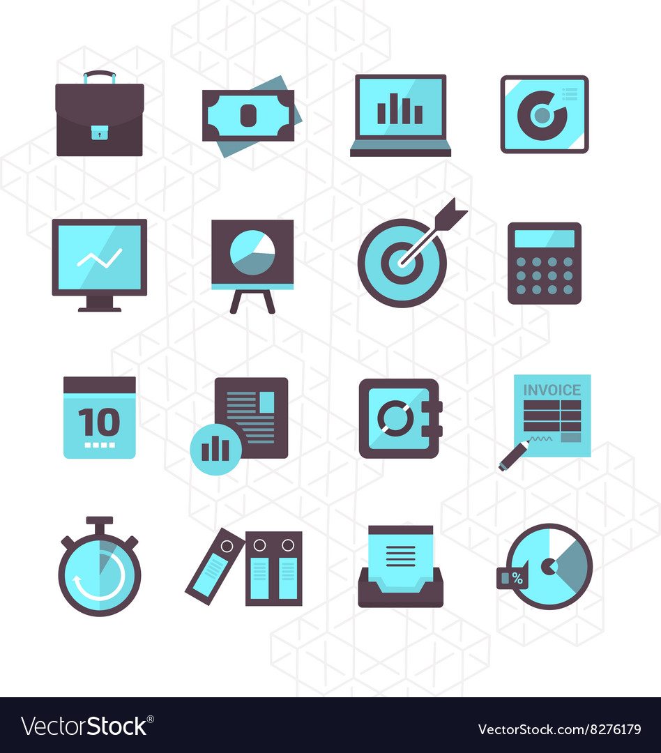Finance icons collection vector