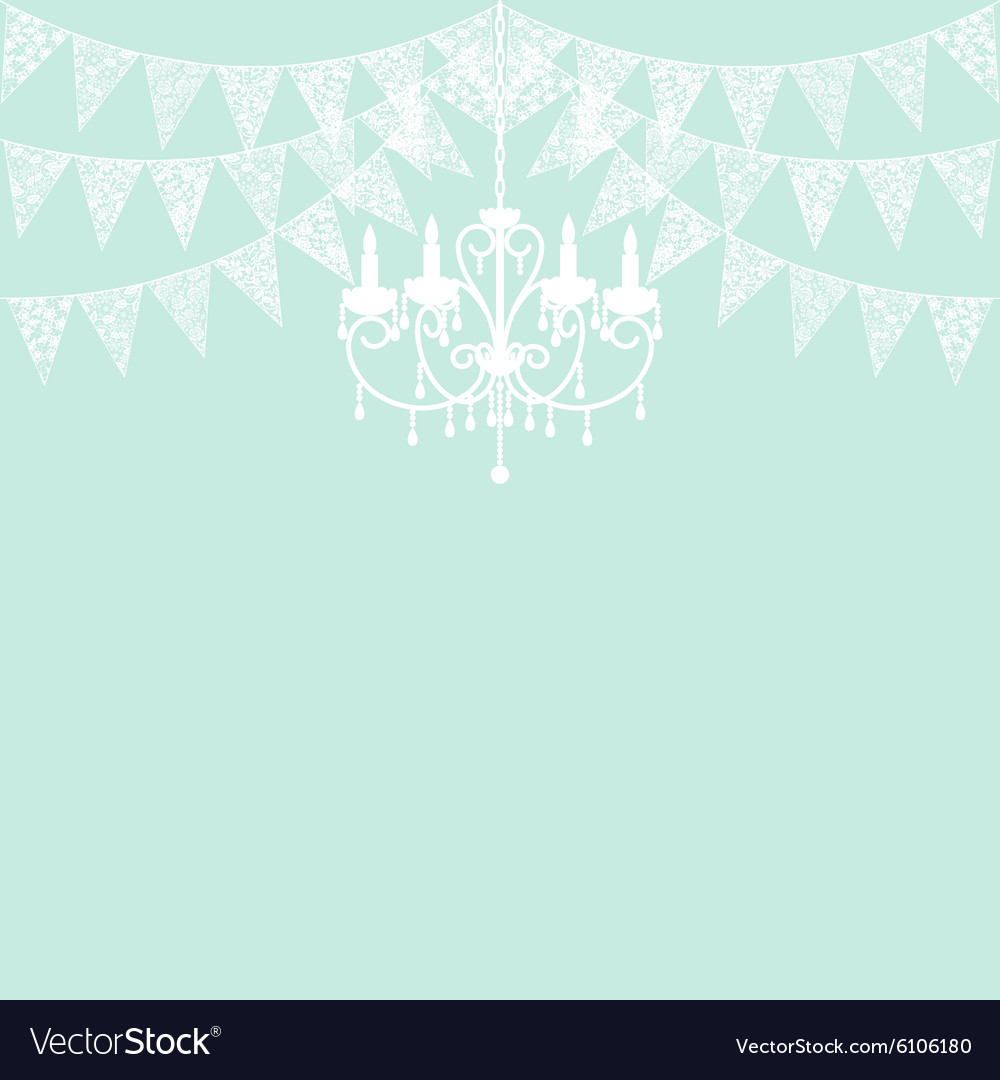 Lace bunting vector