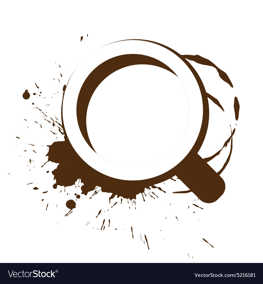 Logo and a cup of coffee splashes vector