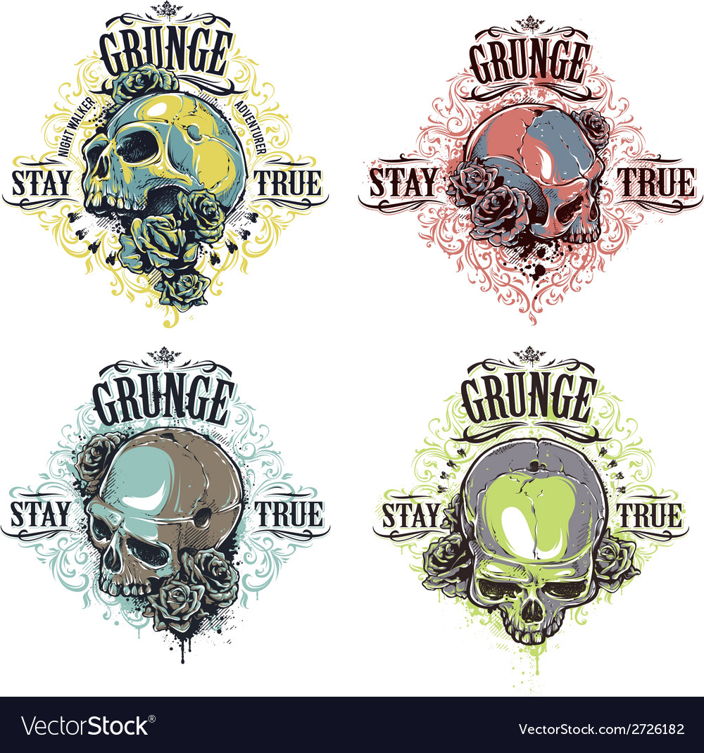 Skulls prints bundle vector