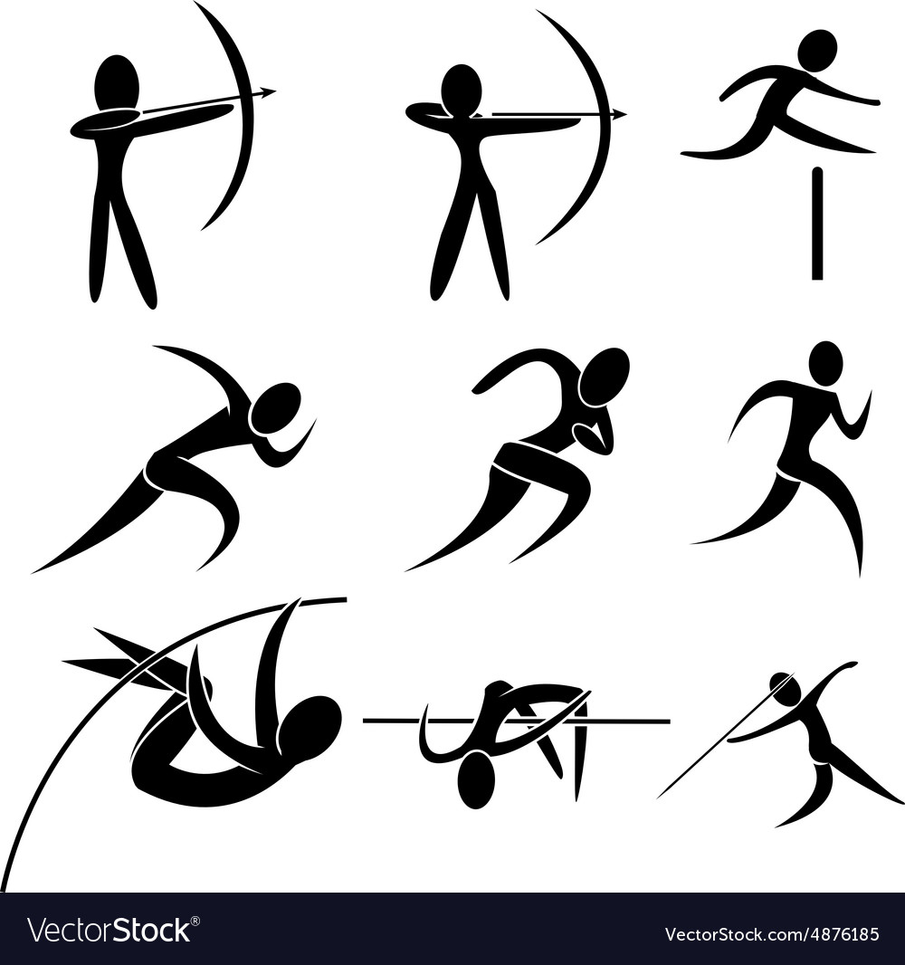 Set of sport icon vector