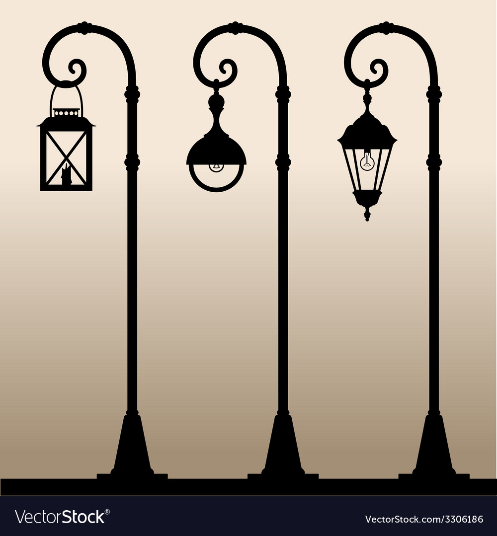 Street lights vector