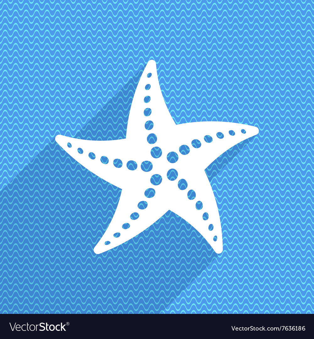 Summer card with starfish vector