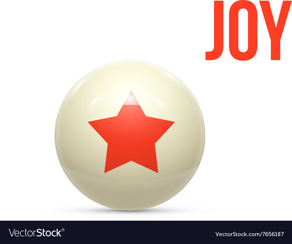 Rubber ball with star isoalted vector